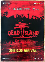 Dead Island RARE PS3 XBOX 360 51.5 cm x 73 cm Japanese Promo Poster