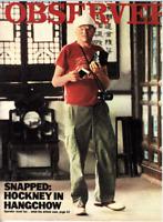 OBSERVER MAGAZINE Oct 31 1982 - David Hockney in China. Great Retro Adverts