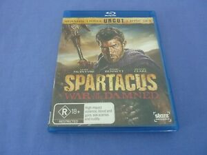 Spartacus War Of The Damned Blu ray Season 3 Liam McIntyre Free Tracked
