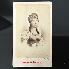 PHOTO CDV ANCIENNE Impératrice Joséphine 1880 PHOTOGRAPHE Neurdein XIXè