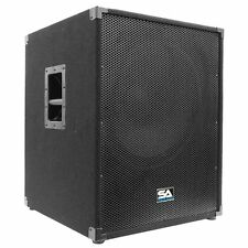 "Seismic Audio 18"" INCH SUBWOOFER PA DJ Band Speaker Cab Box NEW Sub"