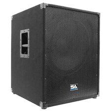"Seismic Audio 18"" INCH SUBWOOFER PA DJ Band Speaker Cab Box NEW Sub"
