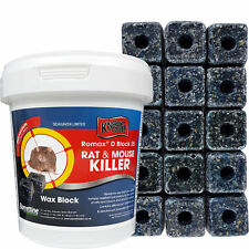 KNOCKOUT RAT & MOUSE Killer Blocks POISON for Control of Rodents - PRO QUALITY