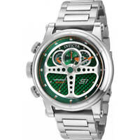 Invicta Men's Watch S1 Rally Green Dial Stainless Steel Bracelet 30577