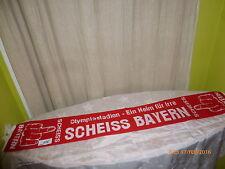 """Dortmund,Nürnberg,Schalke,1860 Anti Bayern Schal """"Olympiastadion Scheiss Bayern"""""""