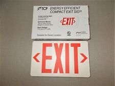 Exit sign top or side mount double sided red LED long life TCP 227426 new