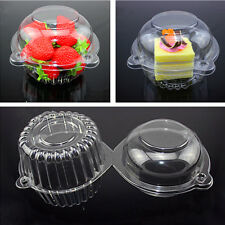 New 20 Pcs/set Clear Thin Plastic Cupcake Cake Muffin Dome Case Holder Boxes