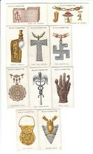 Ten 1923 Magic Cards Necklace Of Charms, Book Of Charms, Tau Cross, The Caduceus