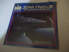 "VINTAGE NEW STAR TREK III SEARCH FOR SPOCK BOOK + 7"" RECORD 33 1/3 STILL SEALED"