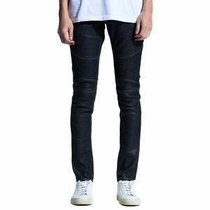 Embellish Snyder Biker Denim Jeans Black