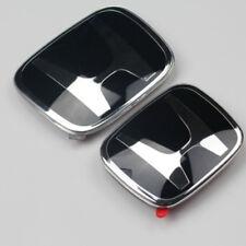 2X New Black H JDM Fit HONDA Grille+Rear Emblem badges CRV RE ODYSSEY 3 RB4