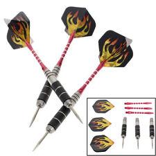 3Pcs/Set Pro Tungsten Steel Needle Tip Darts With Dart Flights Sports Black/Red