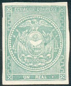 Ecuador Mi.-Nr.2(*) MICHEL € 550,00 vollrandig, feinst  RRRRRRRRRRRRRRRRRRRRRRRR