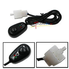 (1) Water Drop Shape 12V Push Button Switch With Red/Green LED Indicator Lights