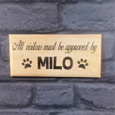 Personalised Visitors Approved By Sign, Plaque Home Dog Puppy Pets Gift House