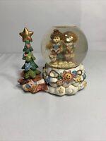 Heavenly Musical Angel WatervWindup Snow Globe~Happy & Joy by Christmas Tree~C6
