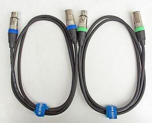 1,5m Mikrofonkabel XLR DMX Kabel OFC-Kupfer 2 Stück je 1,5m lang inkl.Kabelklett
