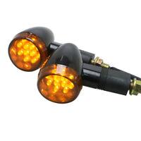 2x Black LED Indicators Motorcycle Motorbike LED Blinkers Suzuki Kawasaki KTM