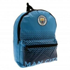 Manchester City Junior Backpack School Bag Blue Rucksack MCFC Outdoor