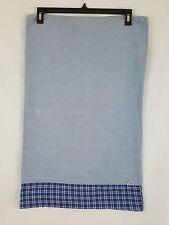 Ralph Lauren Blue White Plaid Border USA Flag Cotton 1 Standard Pillowcase