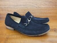 M&S Navy Suede Loafers Slip Ons  Size UK 9 EU 43