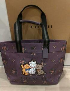 Coach x Disney The Aristocats Marie Tote bag Lavender from Japan free shipping