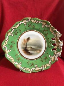 Coalport china Victorian hand painted tazza (cake stand) pattern 2/183