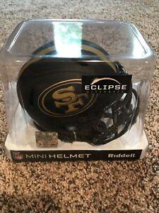 San Francisco 49ers NFL Eclipse Black Alternate Speed Riddell Mini Helmet New