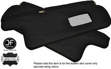 BLACK STITCHING 2X SUN VISORS LEATHER COVERS FITS TOYOTA COROLLA GT AE82
