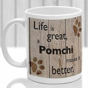 Pomchi dog mug, Pomchi dog gift, ideal present for dog lover