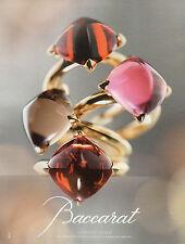 Publicité 2012 BACCARAT joaillier bague collier collection bracelet bijoux