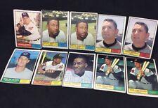 Vintage Lot of 10 1961 Topps Baseball Cleveland Indians Vic Power Tito Francona