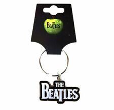 The Beatles Drop T Logo Noir Métal Porte-Clés - Rock Musique Cadeaux