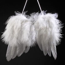 LK_ Angel White Feather Wing Christmas Tree Decoration Hanging Ornament Weddin