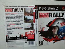 Jaquette/Front-Back cover Richard Burns Rally Sony Playstation PS2 FR