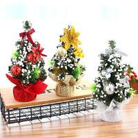 Home Office Mini Christmas Xmas Tree Candy Ball Shiny Party Desk Ornaments Decor