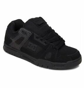 Mens DC Stag Skateboarding Shoes NIB Black Black         (BB2)