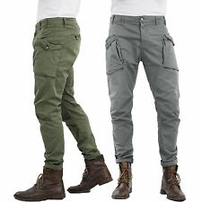Pantalone Uomo con tasconi laterali cotone Slim Girogama-3323p Blu 52