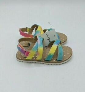 Toddler Girls' Peace Ankle Strap Sandals - Cat & Jack Size 8, Rainbow