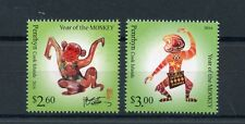 Penrhyn Cook Isl 2016 MNH Year of Monkey 2v Set Chinese Lunar New Year Stamps