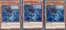 Carta YUGIOH - 3 X Doppio Pinna Squalo-Duelist SAGA dusa-en001