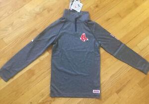 MLB Boston Red Sox Youth Boys 1/4 Zip Sweatshirt Small~new w/ tags