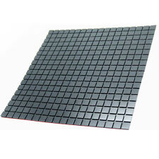 3d Mosaic Wall Sticker Aluminum Metal Wall Panel Self Adhesive Thick Tile Decal Black