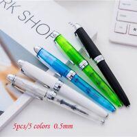 Wing Sung LORELEI 9133 Transparent Green Fountain Pen 0.5mm Nib Writing Gift #sc