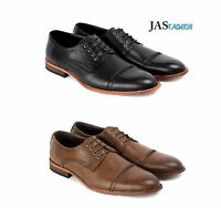 Mens Casual Smart Oxford Shoes Fashion Lace Up Formal Work Office Style UK Size