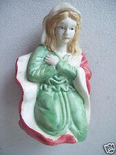 "Kneeling Praying Mary Mother Of Jesus 4.5"" Tall Ceramic Nativity Figurine"