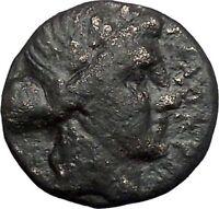 Thessalian League Larissa in Thessaly 196BC Apollo Athena Greek Coin i49246