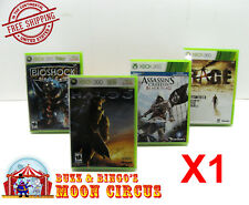 1X XBOX 360 CIB GAME - CLEAR PLASTIC PROTECTIVE BOX PROTECTOR CASE SLEEVE