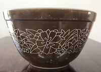 "Pyrex Brown Bowl Woodland Pattern (1978-1983) #401 750ML 5.5"" Diameter"
