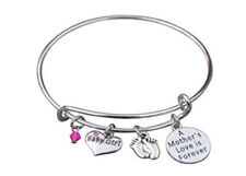 Mom Daughter Charm Bracelet - Perfect New Mom Gift
